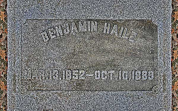 Benjamin Haile Gravestone Photo