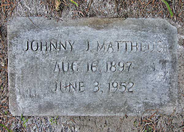 Johnny J. Mattheus Gravestone Photo