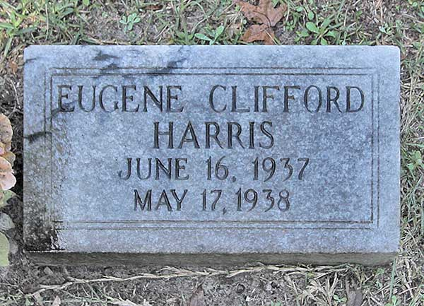 Eugene Clifford Harris Gravestone Photo
