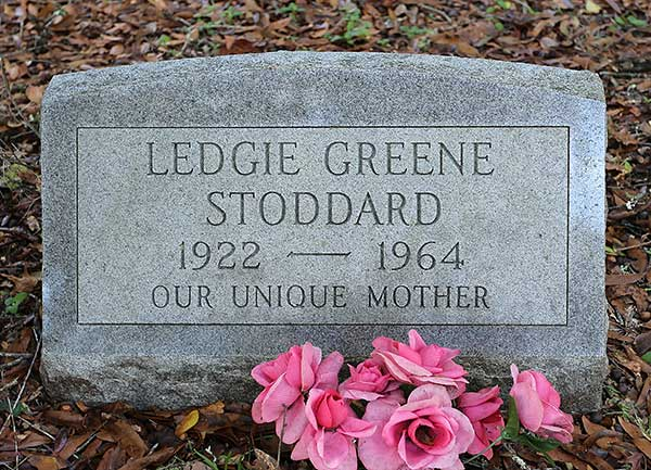 Ledgie Greene Stoddard Gravestone Photo