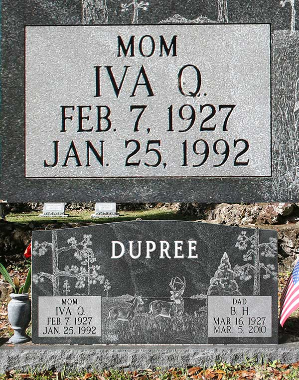 Iva Q. Dupree Gravestone Photo