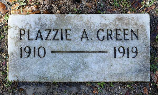 Plazzie A. Green Gravestone Photo
