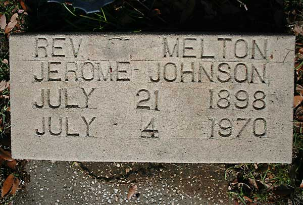Rev. Melton Jerome Johnson Gravestone Photo