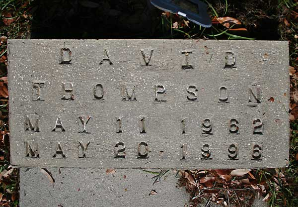 David Thompson Gravestone Photo