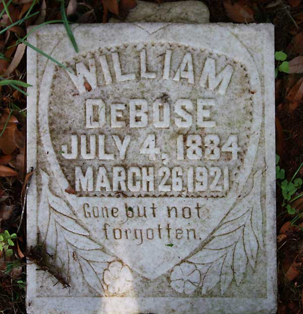 William DeBose Gravestone Photo