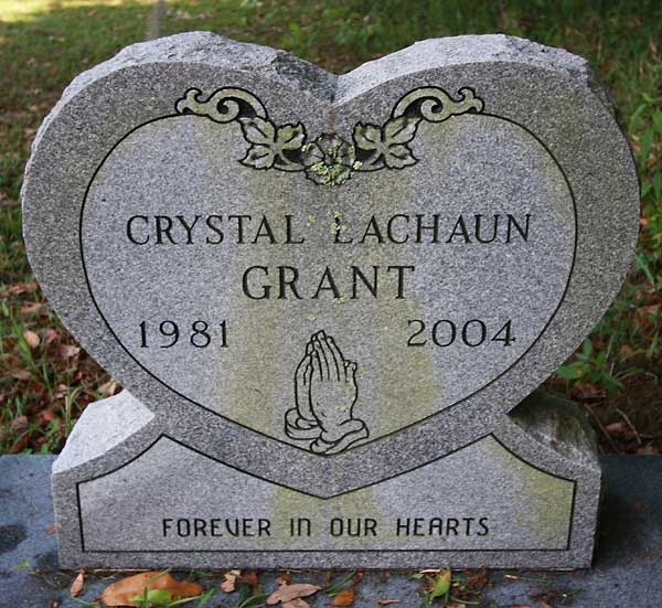 Crystal Lachuan Grant Gravestone Photo