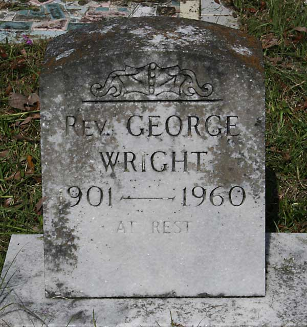 Rev. George Wright Gravestone Photo