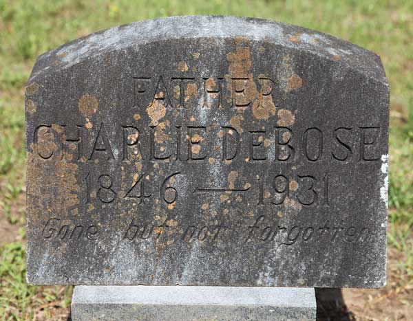 Charlie DeBose Gravestone Photo