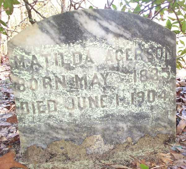 Matilda Acerson Gravestone Photo