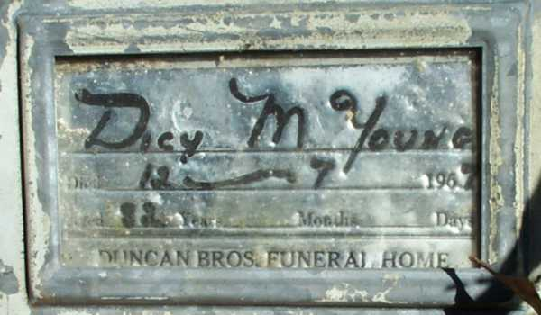 Dicy M. Young Gravestone Photo