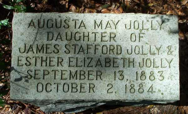 Augusta May Jolly Gravestone Photo
