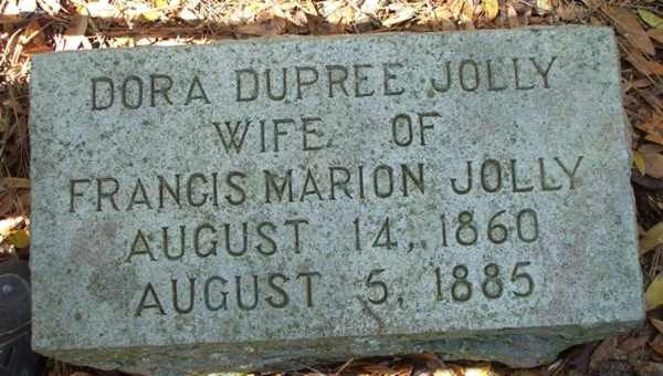 Dora Dupree Jolly Gravestone Photo