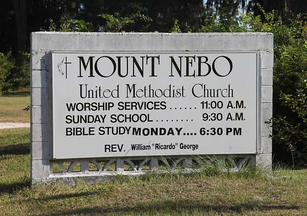 Mount Nebo Sign Gravestone Photo