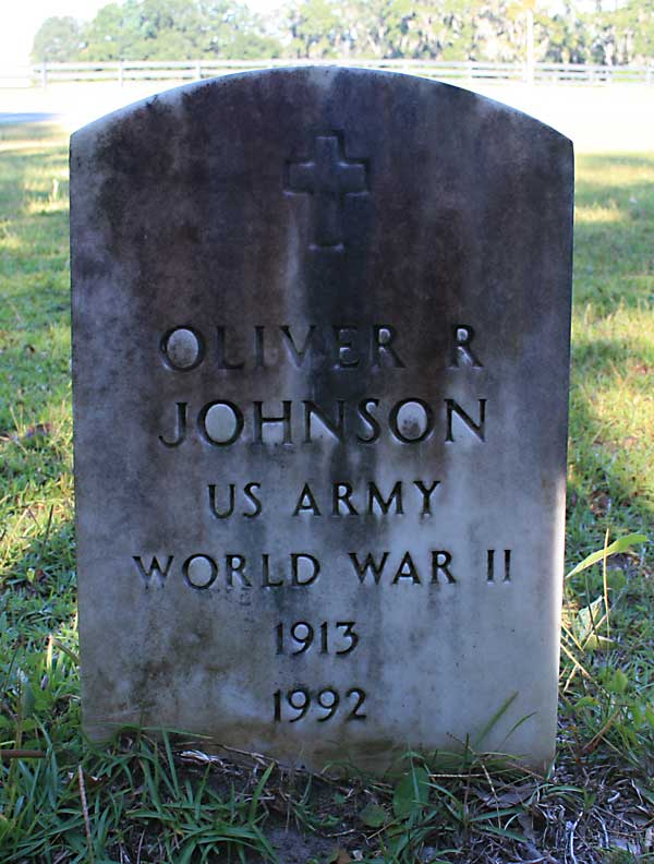 Oliver R Johnson Gravestone Photo