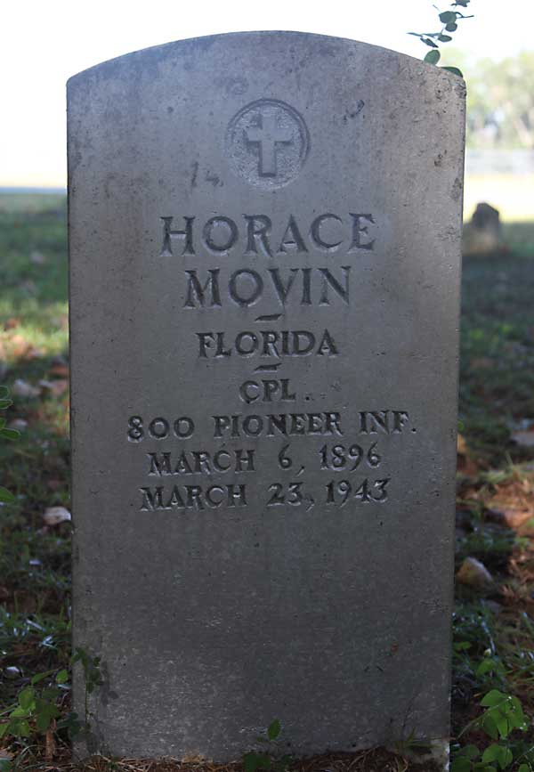 Horace Movin Gravestone Photo