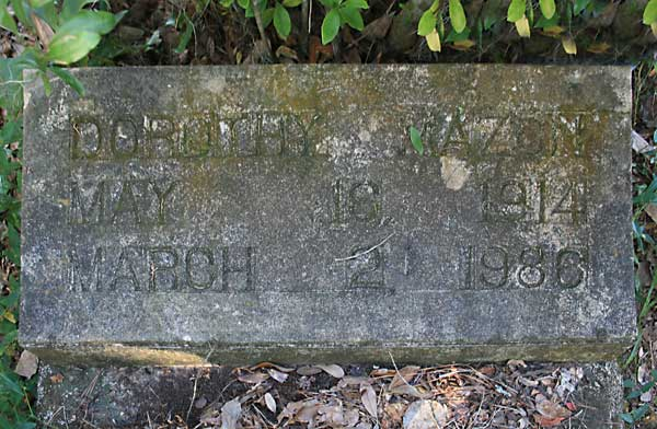 Dorothy Mazon Gravestone Photo