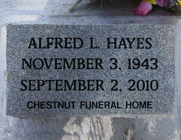 Alfred L. Hayes Gravestone Photo