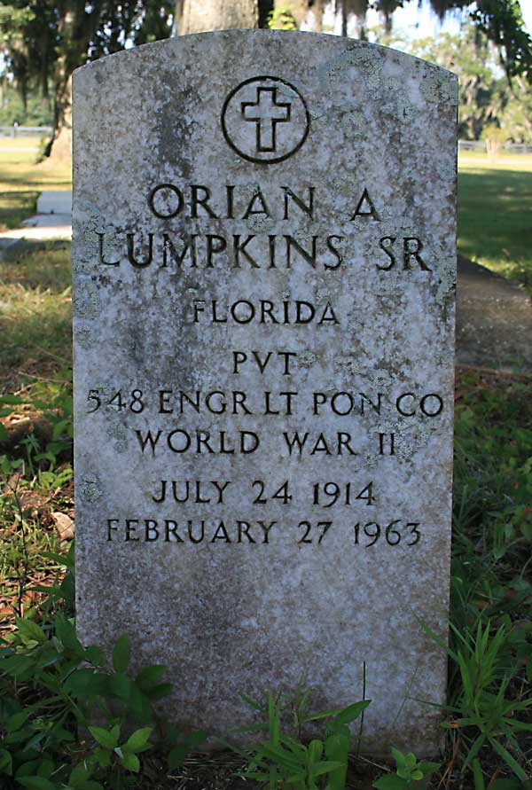 Orian A. Lumpkins Gravestone Photo