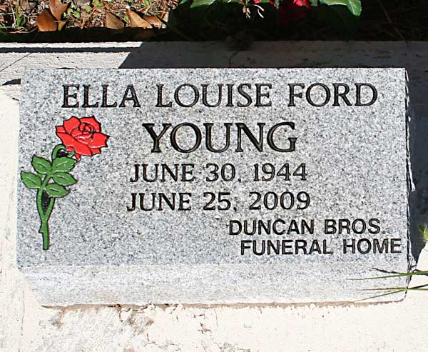 Ella Louise Ford Young Gravestone Photo