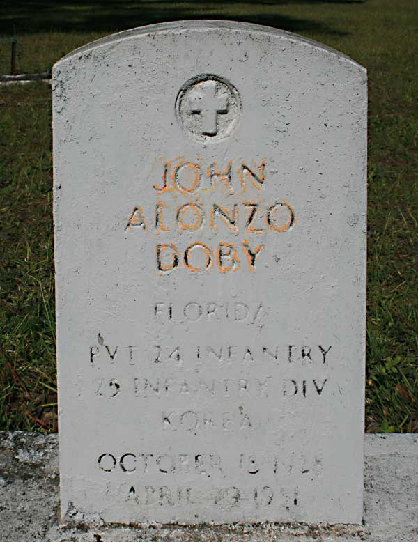 John Alonzo Doby Gravestone Photo