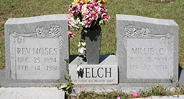 Rev. Moses & Millie C. Welch Gravestone Photo