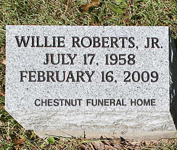 Willie Roberts Gravestone Photo