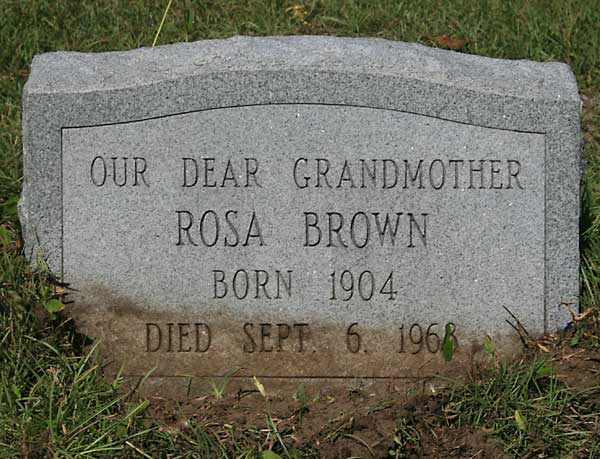 Rosa Brown Gravestone Photo