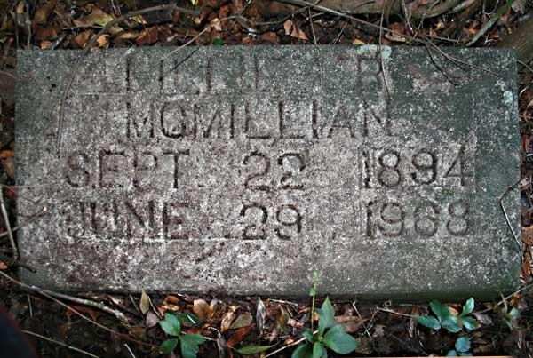 Lillie R. McMillian Gravestone Photo