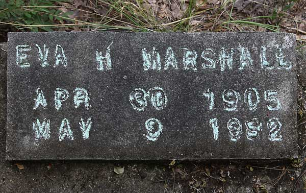 Eva H. Marshall Gravestone Photo