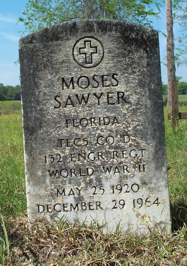 Moses Sawyer Gravestone Photo