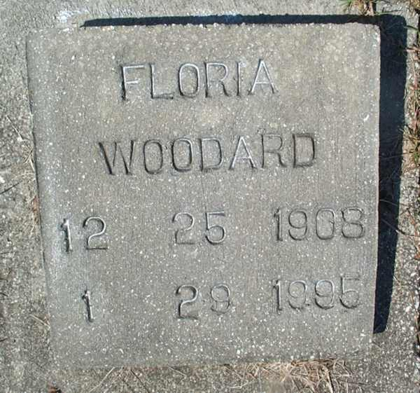 Floria Woodard Gravestone Photo