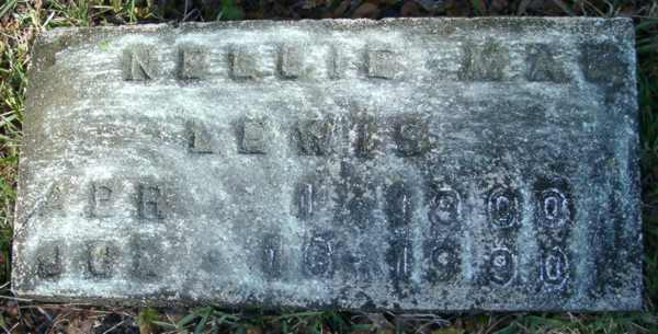 Nellie Mae Lewis Gravestone Photo