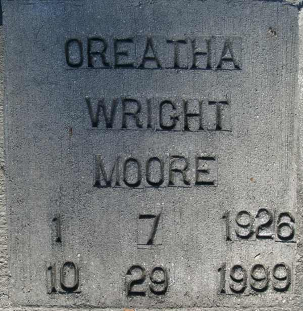 Oreatha Wright Moore Gravestone Photo