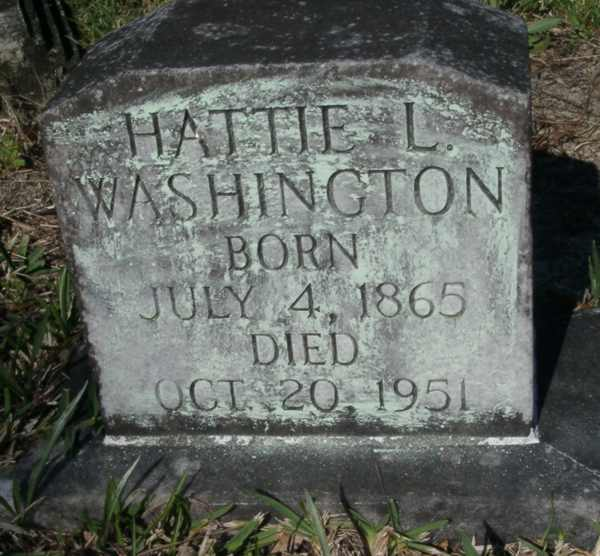Hattie L. Washington Gravestone Photo