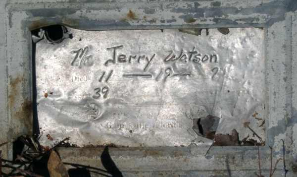 Jerry Watson Gravestone Photo