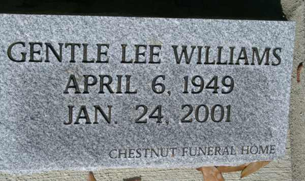 Gentle Lee Williams Gravestone Photo