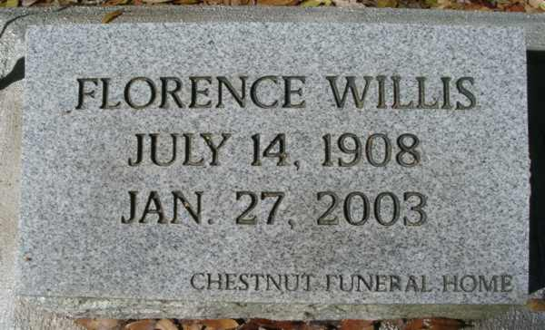 Florence Willis Gravestone Photo
