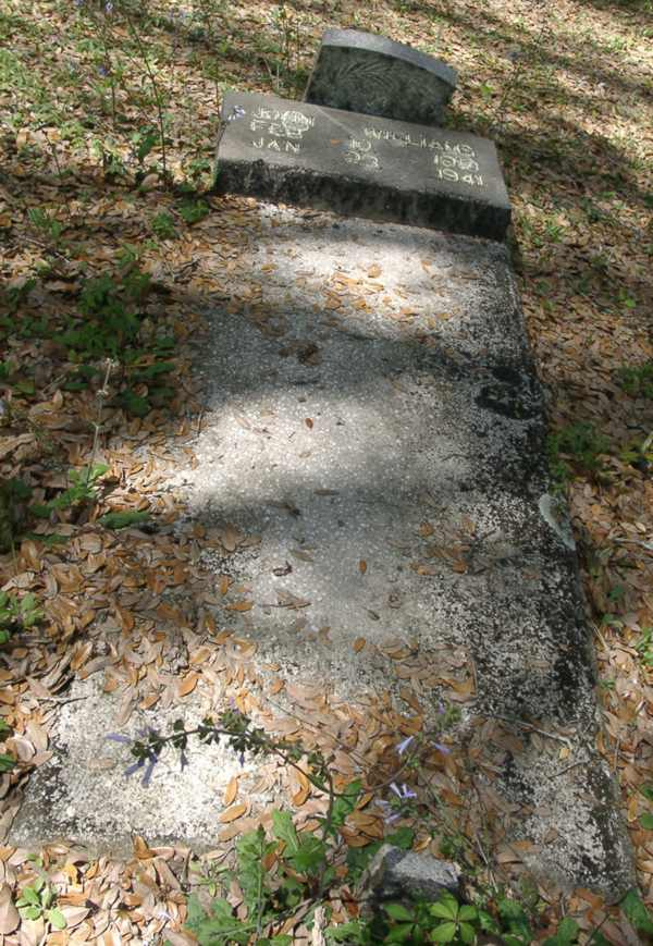 Not ledgable at  this angle Williams Gravestone Photo