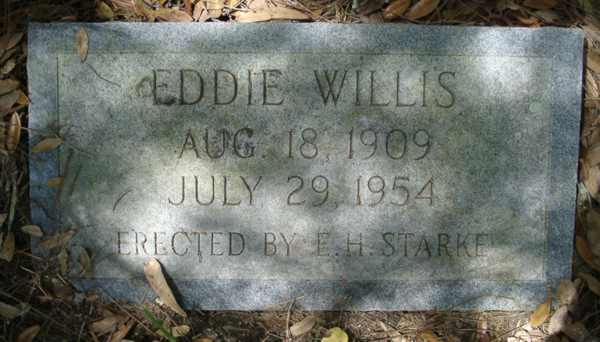 Eddie Willis Gravestone Photo
