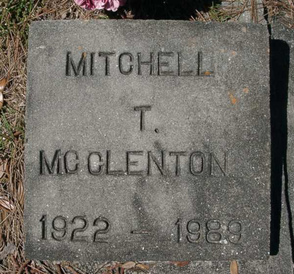 Mitchell T. McClenton Gravestone Photo