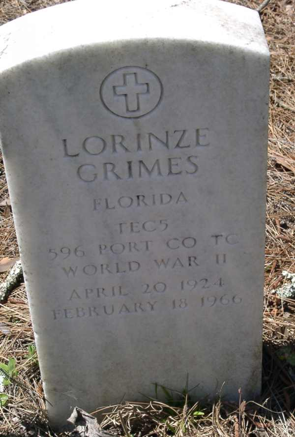 Lorinze Grimes Gravestone Photo