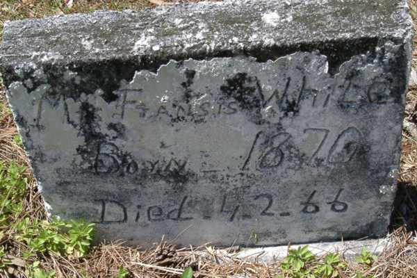 Mr Fransis White Gravestone Photo