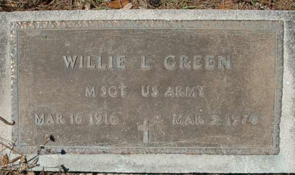 Willie L. Green Gravestone Photo
