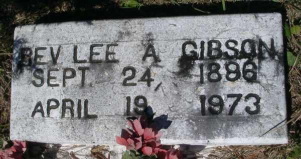 Lee A. (Rev.) Gibson Gravestone Photo
