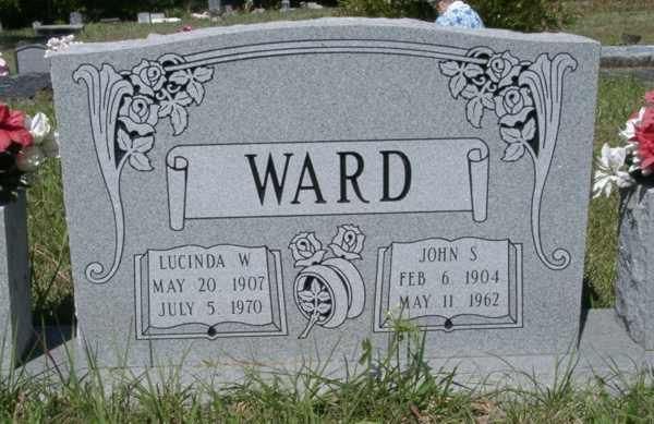 Lucinda W./John S. Ward Gravestone Photo