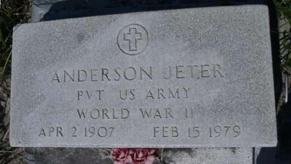 Anderson Jeter Gravestone Photo