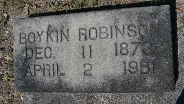 Boykin Robinson Gravestone Photo