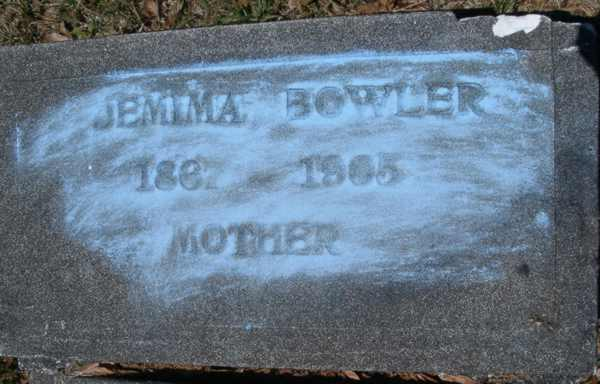 Jemima Bowler Gravestone Photo