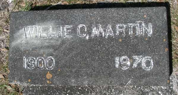 Willie C. Martin Gravestone Photo