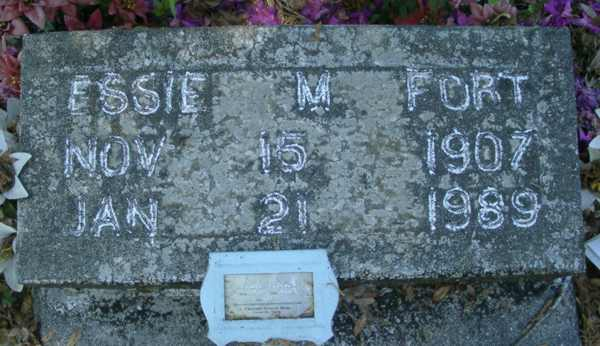 Essie M. Fort Gravestone Photo